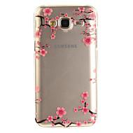 voordelige Galaxy J-serie hoesjes / covers-hoesje Voor Samsung Galaxy J5 (2016) J3 (2016) IMD Transparant Patroon Achterkant Bloem Zacht TPU voor J5 (2016) J5 J3 (2016) J3 Grand