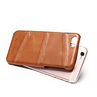 Назначение iPhone 8 iPhone 8 Plus Чехлы панели Защита от удара Задняя крышка Кейс для Сплошной цвет Твердый Натуральная кожа для Apple
