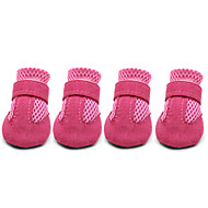 cheap Daily Deals-Dog Boots / Shoes Cute Casual/Daily Solid Black Red Blue Pink For Pets