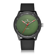 V6 남성용 패션 시계 석영 / 실리콘 밴드 캐쥬얼 블랙