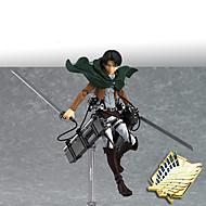 voordelige Cosplay & Kostuums-Anime Action Figures geinspireerd door Attack on Titan Mikasa Ackermann PVC 14 CM Modelspeelgoed Speelgoedpop