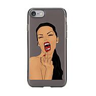 رخيصةأون -من أجل iPhone X إفون 8 iPhone 7 iPhone 6 قضية فون 5 أغط / كفرات شفاف نموذج غطاء خلفي غطاء امرآة مثيرة ناعم TPU إلى Apple iPhone X iPhone