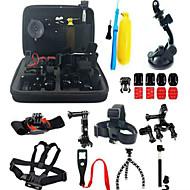 お買い得  スポーツカメラ & GoPro 用アクセサリー-アクセサリー キット 抗衝撃 / 多機能 ために アクションカメラ Gopro 5 / Xiaomi Camera / Gopro 4 スキー / 狩猟と釣り / ロッククライミング プラスチック / ナイロン / アルミニウム - 37 pcs / Gopro 3