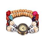 Недорогие Фирменные часы-REBIRTH Жен. Часы-браслет / Наручные часы Защита от влаги Дерево Группа На каждый день / Мода Красный / Коричневый / Зеленый