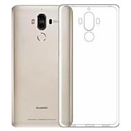 Недорогие Чехлы и кейсы для Huawei Honor-Кейс для Назначение Huawei Защита от пыли Ультратонкий Прозрачный Кейс на заднюю панель Сплошной цвет Мягкий ТПУ для Honor 6X Mate 9