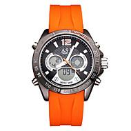 Недорогие Фирменные часы-ASJ Муж. электронные часы Японский Календарь / Защита от влаги / Cool силиконовый Группа На каждый день / Мода Черный / Оранжевый