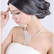 저렴한 -여성 보석 세트 합성 다이아몬드 신부 결혼식 파티 일상 모조 다이아몬드 합금 새 동물 1 목걸이 1 쌍의 귀걸이