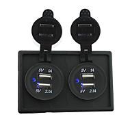 Недорогие Автомобильные зарядные устройства-12v / 24v 2pcs 3.1a USB разъем питания с держателем корпус панель для автомобиля лодки грузовик с.в.