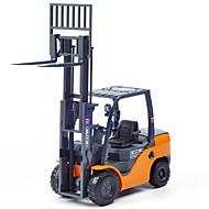 KDW Voertuig Speelgoedauto's Speeltjes Constructievoertuig Vorkheftruck Speeltjes Uittrekbaar Automatisch Vorkheftruck Metaal Hoge