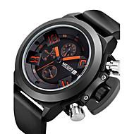 Недорогие Фирменные часы-MEGIR Муж. Спортивные часы Модные часы Наручные часы Кварцевый 30 m сплав Группа Аналоговый Винтаж На каждый день Разноцветный - Черный / Нержавеющая сталь