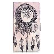 """Для Кошелек Бумажник для карт со стендом Флип С узором Магнитный Кейс для Чехол Кейс для Рисунок """"Ловец снов"""" Твердый Искусственная кожа"""