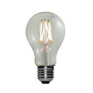 お買い得  LED ボール型電球-E27 LEDボール型電球 A60(A19) 4 COB 360 lm 温白色 調光可能 交流220から240 V 1個
