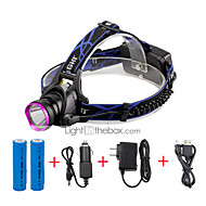 U'King Headlamps Headlight LED 2000 lm 3 Mode Cree XM-L T6 with Batteries and Chargers Zoomable Adjustable Focus Easy Carrying High Power