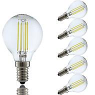 お買い得  -GMY® 6本 4 W 350-400 lm E14 フィラメントタイプLED電球 P45 4 LEDビーズ COB 温白色 / クールホワイト 220-240 V / 6個 / RoHs