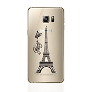 Недорогие Чехлы и кейсы для Galaxy S7 Edge-Кейс для Назначение SSamsung Galaxy S7 edge S7 Прозрачный С узором Кейс на заднюю панель Эйфелева башня Мягкий ТПУ для S7 edge S7 S6 edge