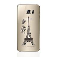 Кейс для Назначение SSamsung Galaxy S7 edge S7 Прозрачный С узором Задняя крышка Эйфелева башня Мягкий TPU для S7 edge S7 S6 edge plus S6