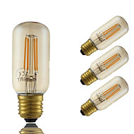 5W E26/E27 Bec Filet LED T 4 led-uri COB Intensitate Luminoasă Reglabilă Decorativ Amber 350lm 2200K AC 220-240V