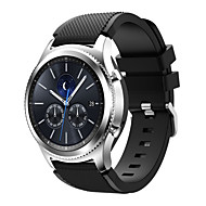 Недорогие Часы для Samsung-Ремешок для часов для Gear S3 Frontier Gear S3 Classic Samsung Galaxy Спортивный ремешок силиконовый Повязка на запястье