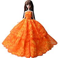 abordables Muñecas y Peluches-Princesa Vestidos por Muñeca Barbie  Tela de Encaje Organdí Vestido por Chica de muñeca de juguete