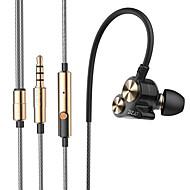 preiswerte -DZAT dt-05 Doppel dynamische 3.5mm im Ohrkopfhörer Lärm Sport Kopfhörer DJ Hifi Bass Headset Ohrhörer mit Mikrofon