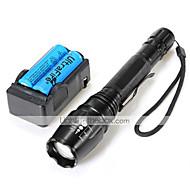 お買い得  フラッシュライト/ランタン/ライト-2000 lm lm LED懐中電灯 LED 5 モード - U'King ズーム可能 / 焦点調整可