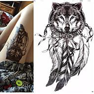 abordables Tatuajes Temporales-Waterproof / 3D / Pegatina tatuaje brazo Los tatuajes temporales 1 pcs Series de Tótem / Series de Animal Artes de cuerpo