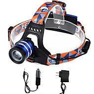 U'King Headlamps Headlight LED 2000 lm 3 Mode Cree XM-L T6 with Chargers Zoomable Adjustable Focus High Power Easy Carrying