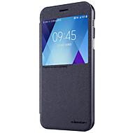Недорогие Чехлы и кейсы для Galaxy A5(2017)-Кейс для Назначение SSamsung Galaxy A5(2017) / A3(2017) с окошком / Флип / Матовое Чехол Однотонный Твердый Кожа PU для A3 (2017) / A5