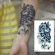cheap Temporary Tattoos-1 pcs Tattoo Stickers Temporary Tattoos Flower Series / Art Deco / Retro Waterproof / 3D Body Arts Arm
