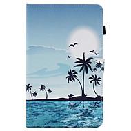 Недорогие Чехлы и кейсы для Galaxy Tab A 9.7-Кейс для Назначение SSamsung Galaxy Вкладка 9,7 Вкладка 8,0 Бумажник для карт со стендом Флип С узором Чехол Пейзаж Твердый Кожа PU для