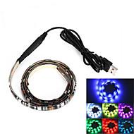 brelong usb 90cm 6.5w 500lm DC5V 5050 27 lámpa vízálló IP65 RGB tv / laptop háttér fény rgb szín