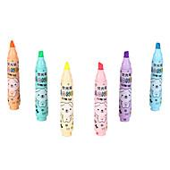 6個の蛍光ペン6色インク1セット