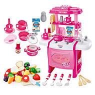 Rollelegetøj Toy Køkken Sets Toy Dishes & testel Børne kogeapparater Legetøj Legetøj LED-belysning Lyd Pige 22 Stk.