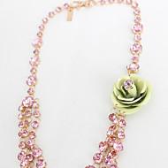 Женский Пряди Ожерелья Бижутерия В форме цветка Крестообразной формы Бижутерия Синтетические драгоценные камни Сплав Цветочный дизайн
