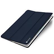 Para con Soporte Activado/Apagado Automático Origami Funda Cuerpo Entero Funda Un Color Dura Cuero Sintético para Apple iPad Mini 4