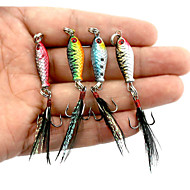 cheap Sports & Outdoors Accessories-4 pcs Metal Bait Jigs Fishing Lures Metal Bait Jigs Lead Metal Sea Fishing Bait Casting Spinning Jigging Fishing Freshwater Fishing Other