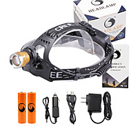 U'King Headlamps Headlight LED 3000 lm 4 Mode Cree XP-E R2 with Batteries and Chargers Zoomable Adjustable Focus Easy Carrying High Power