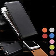 Недорогие Кейсы для iPhone 8-Кейс для Назначение Apple iPhone 8 iPhone 8 Plus Кейс для iPhone 5 Флип Чехол Сплошной цвет Твердый Настоящая кожа для iPhone 7 Plus