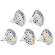 gu5.3 (mr16) led spotlight mr16 15 smd 2835 300lm blanco cálido 3000k dc 12 a 12v