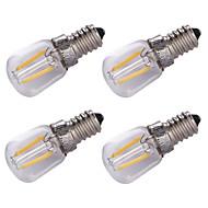 billige LED kultrådslamper-1.5W E14 LED-glødetrådspærer 2 leds COB Dekorativ Varm hvid 100lm 3000K Vekselstrøm220V