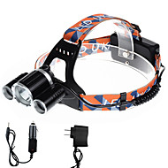 U'King Headlamps Headlight LED 5000 lm 4 Mode Cree XP-G R5 Cree XM-L T6 Compact Size Easy Carrying for Camping/Hiking/Caving Batteries