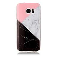 Недорогие Чехлы и кейсы для Galaxy S7 Edge-Кейс для Назначение SSamsung Galaxy S7 edge S7 IMD С узором Задняя крышка Мрамор Мягкий TPU для S7 edge S7 S6 edge S6 S5 S4 S3