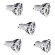 5pcs 6W GU10 LED Spotlight 3*2W High Power LED Warm/Cool White Aluminum Alloy Led Lamp Spotlight Bulb AC85-265V
