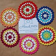 Zestaw 6 kawałków doylnie różne szorstki elegancki vintage look crocheted serwetki