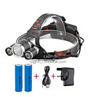 U'King Linternas de Cabeza Faro Delantero LED 4000 lm 4.0 Modo Cree XP-G R5 Cree XM-L T6 Tamaño Compacto Fácil de Transportar para