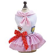 お買い得  -犬 ドレス 犬用ウェア セーラー ブルー ピンク コットン コスチューム ペット用 クラシック キュート ファッション