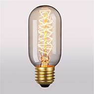 رخيصةأون -1PC 40W E26/E27 T45 2300 ك المتوهجة خمر اديسون ضوء لمبة أس 220V أس 220-240V V