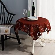 Neliö Embroidered Table Cloths , Mélange Poly/Coton materiaaliHäät Party Sisustus Häihin Illallinen Joulu Sisustus Favor Taulukko