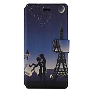 Недорогие Чехлы и кейсы для Huawei Honor-Для Бумажник для карт со стендом Флип С узором Кейс для Чехол Кейс для Эйфелева башня Твердый Искусственная кожа для HuaweiHuawei P9 Lite