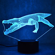 Crocodile Touch Dimming 3D LED Night Light 7Colorful Decoration Atmosphere Lamp Novelty Lighting Light